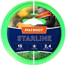 Купить <b>Леска</b> для садовых <b>триммеров PATRIOT</b> Starline, 2.4мм ...