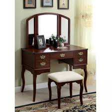 charming wooden hayworth vanity with mirror and matching stool for inspiring furniture ideas charming makeup table mirror
