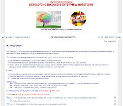 diversity interviewing developing inclusive interview questions sample
