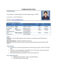 resume format for freshers curriculum vitae pratik tiwari house number 6 akash nagar near gayatri nagar raipur resumes format for freshers