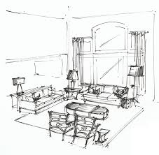 living room perspective interior sketches floor plans on simple circuit schematic drawing room