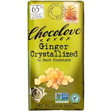 Chocolove <b>Ginger Crystallized in Dark</b> Chocolate, 3.2 oz. Chocolate ...