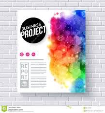 project template cover page stock illustration image  attractive web template for business project royalty stock photos