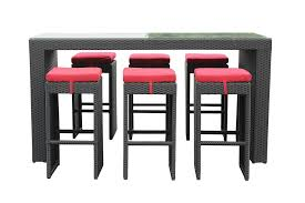 wicker bar height dining table: kontiki dining sets wicker bar sets amp balcony height