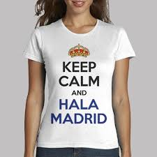Women's T-Shirt <b>Keep Calm And Hala</b> Madrid Printed Tops-buy at a ...