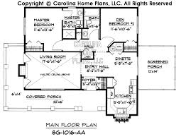 Small Cottage Style House Plan SG  Sq Ft   Affordable Small    SG  Main Floor Plan