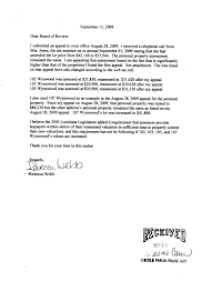 becky webb s appeal letter to the louisiana tax commission b original 1 appeal to the lincoln parish police jury sept 15 2009 supplemental attachment