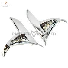 <b>1Pair Chrome Motorcycle</b> Saddlebag Decoration Scuff Cover case ...