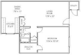 floor plans: royal one bedroom one bath  sq ft living area