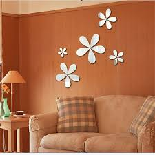 <b>Factory Direct</b> Selling Flower Acrylic Mirror Wall Paste Creative 3D ...