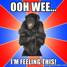 Ooh wee... I'm feeling this! - Monkey Music Lover | Meme Generator via Relatably.com