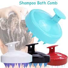 Clean Scalp Head Massage Soft <b>Silicone Shampoo</b> Brush Hair ...