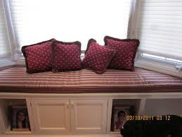 custom made bay window seat cushion with matching pillows bay window seat cushion
