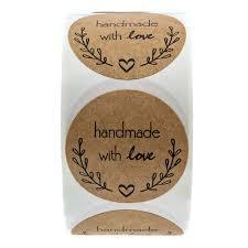 <b>1 Inch Round Natural</b> Kraft Olive Branch Handmade With Love ...