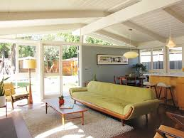 mid century sofa living room midcentury with cork flooring clerestory windows brilliant mid century sofa