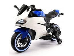 <b>Детский электромотоцикл Ducati</b> 12V - FT-1628-BLUE-WHITE ...