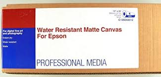Epson - <b>Water resistant matte</b> canvas - Roll (33 cm x 6.1 m) - 1 roll(s ...