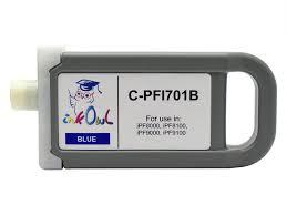 <b>700ml</b> Compatible Cartridge for <b>CANON PFI</b>-<b>701B BLUE</b> - InkOwl