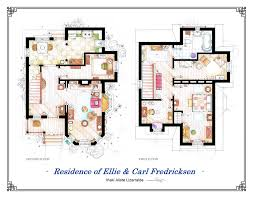 Floor plans of homes from famous TV showsPixar    s Up Movie House