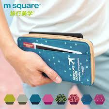 New Arrive <b>Korean Style</b> Passport Cover <b>Wallet</b> Travelus Polyester ...