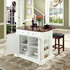 small square kitchen table: bar top kitchen tables crosley furniture drop leaf breakfast bar top kitchen island in white