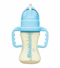 <b>Thinkbaby Thinkster Straw</b> Bottle, 9 oz - Light Blue
