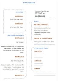 blank resume templates – free samples  examples  format    blank resume template word format