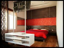 room simplicity decor red ideas walls