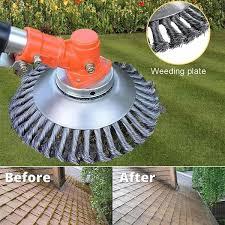 <b>6 inch</b>/<b>8 inch</b> Knotted Steel Wire Trimmer Head <b>Grass</b> Brush Cutter ...