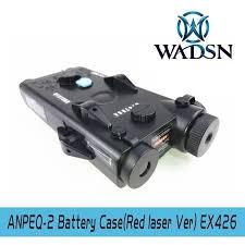 WADSN Airsoft PEQ2 Tactical AN/PEQ-2 Battery Box <b>Red Laser</b> Ver ...