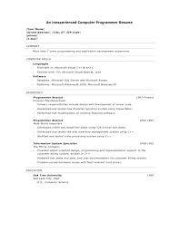 sample basic resume  getblown co    resume examples computer skills  x   sample