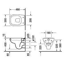 Чаша подвесного <b>унитаза Duravit D-Code 22110900002</b> компакт ...