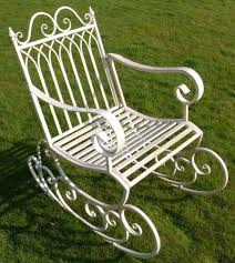 Classic Design In Black SK Metal <b>Garden Rocking Chair</b> Rocking ...