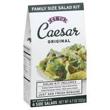 Et Tu Caesar <b>Original</b> Salad Kit (<b>4.7</b> oz) from Giant Food - Instacart