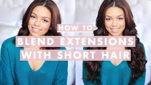 How To Clip In and <b>Blend Hair Extensions</b> with Short/Medium ...