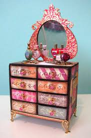how to matchbox dresser link to tutorial love the colors for a boho barbie furniture ideas