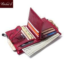 CONTACT'S NEW <b>High Quality</b> Red Leather <b>Genuine</b> Wallets ...