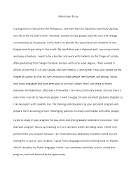 Writing An Admission Essay Esl