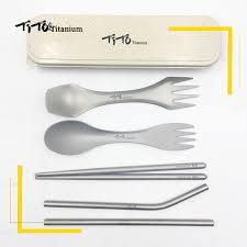 TiTo <b>Outdoor portable titanium</b> Spoon gift set titanium Fork Ultralight ...