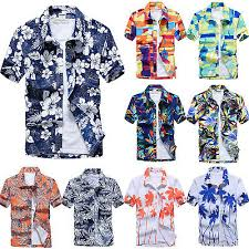 <b>Men</b> Floral Short Sleeve Blouse <b>Hawaiian Shirts Summer</b> Beach ...