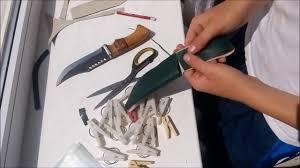 как сделать <b>чехол для ножа</b> (ножны) - YouTube
