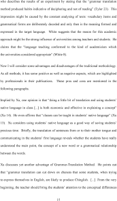 traditional vs modern teaching methods advantages and language white suggests that the reason for this academic approach might be the strong influence