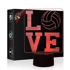 I Love <b>Volleyball 3D</b> Lamp <b>Illusion</b> Night Light, Gawell 7 Color ...