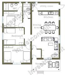 Bedroom Floor Plans d   Bedroom Floor Plans   bedroom floor    Three bedrooms Two bathrooms one en suite Living room   dining for Bedroom Floor Plans