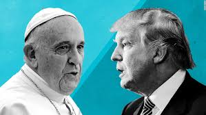 Image result for pope francis donald trump