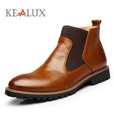 Kealux New Spring/Autumn <b>Fashion</b> Mens Chelsea <b>Boots</b> Vintage ...