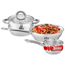 LR02-110 Набор посуды LARA Bell PROMO <b>кастрюля 4.7л</b> ...
