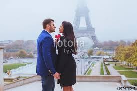 """Valentines day travel destination, couple in <b>love</b> near Eiffel <b>Tower</b> ..."