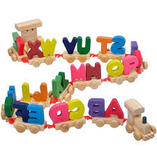 Creative Colorful Capital Letters <b>Wooden Train Model Kids</b> ...