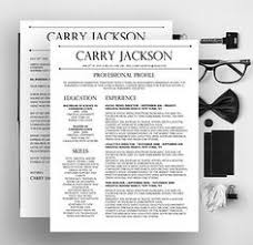 sophisticated resume design for microsoft word  template by    jackson resume  originalresumedesign      carry jackson  conservative resume  fancy resume  jackson modern  original resume  resumes cover